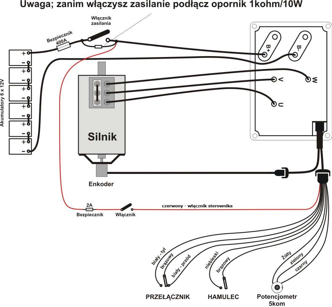 Regulator obrotów do silnika indukcyjnegoKIM7260E - schemat połączeń