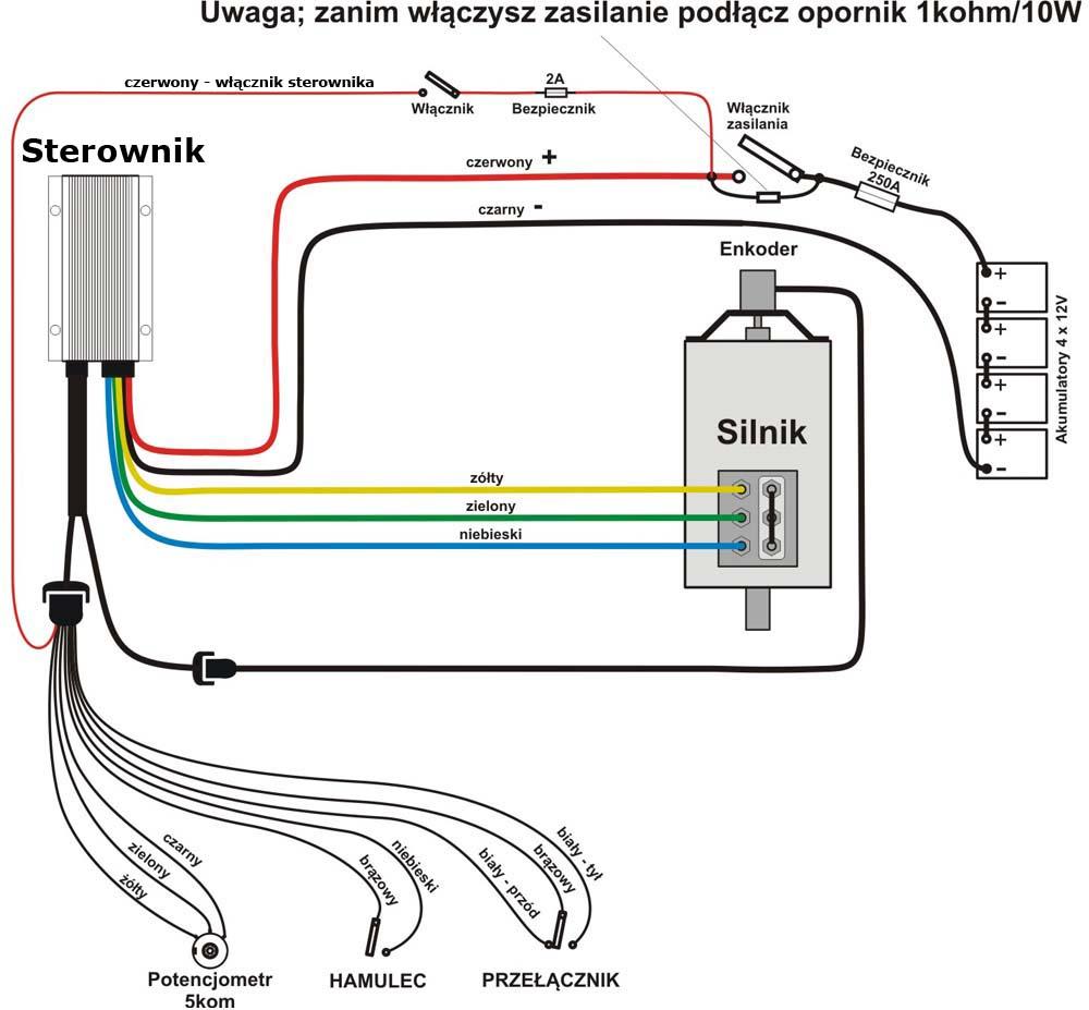 Sterownik obrotów do silnika indukcyjnego - schemat połączeń